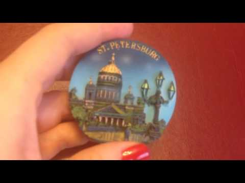 Collection of magnets - Saint-Petersburg, the cultural capital of Russia
