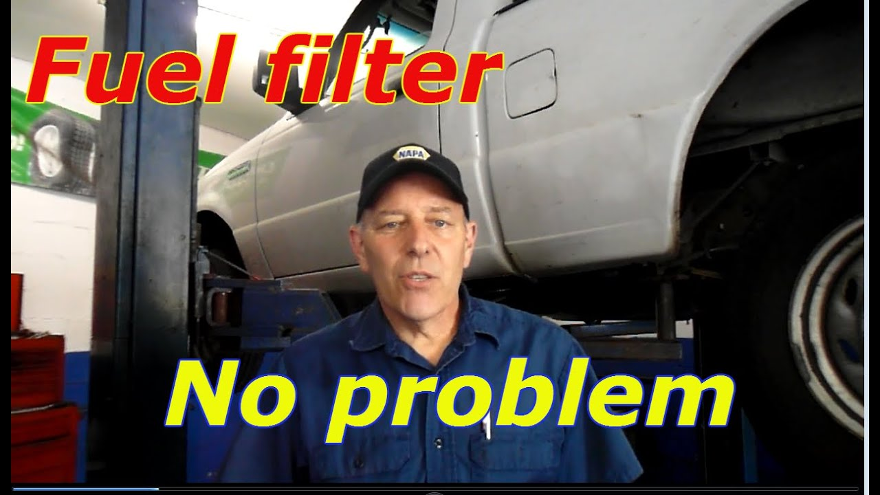 hight resolution of how to replace the fuel filter on a 2006 ford ranger youtubehow to replace the fuel