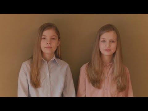 """Leonor y Sofía agradecen a los que ayudan: """"Todos sois importantes"""""""