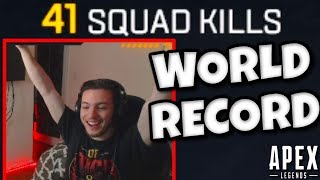 "41 Kill Squad Game on Apex Legends ""WORLD RECORD"" 