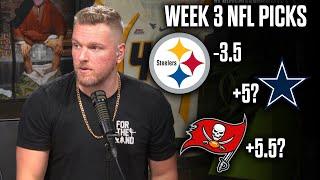 Pat McAfee's Picks For NFL Week 3 Games