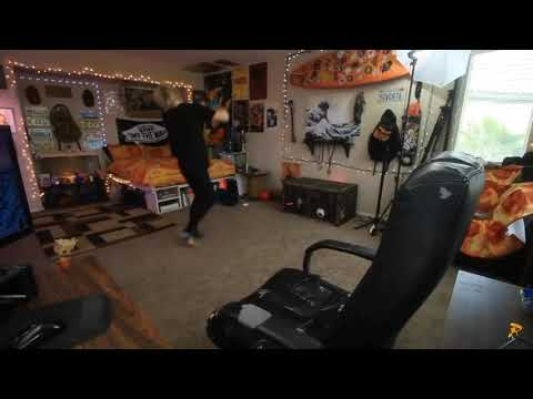 Robby Dances Crazily In His Room.