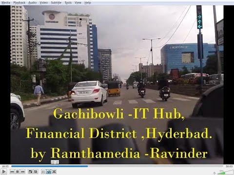Gachibowli IT Hub - Roads and Buildings-2016, HytechCity-Hyderabad