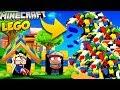 🌊 BAZA VS LEGO TSUNAMI MINECRAFT TSUNAMI CHALLENGE Vito VS Bella