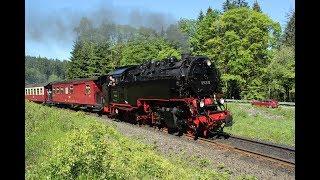 DDE085259 Harz narrow gauge steam locomotive 99-222 with steam train 8937 on the Brocken line.