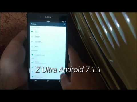 Xperia Z Ultra android 7.1.1