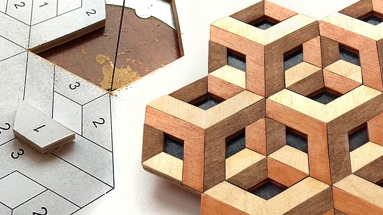How to make optical illusion by scroll saw