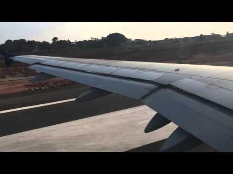 Take off of GoAir G8 347 from Dabolim Airport Goa to CSI airport Mumbai.