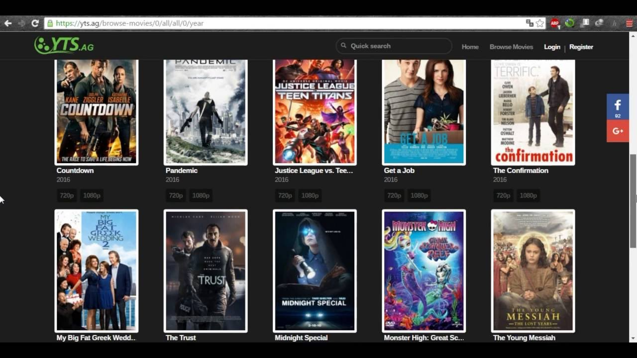 how to download all last 720p, 1080p and 3d movies with a small