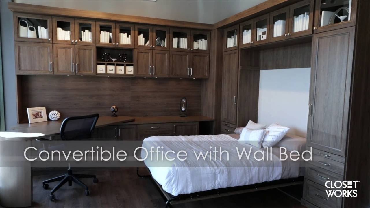 Convertible Office with Wall Bed - YouTube