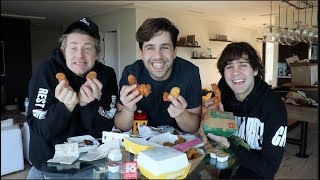CHICKEN TENDER MUKBANG ft DAVID DOBRIK AND JASON NASH!! Video