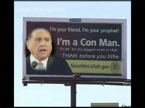 CON MAN MORmON MONSON BILL BOARD f