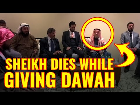 Sheikh Dies While Giving Dawah After Reciting The Shahadah - Beautiful Ending