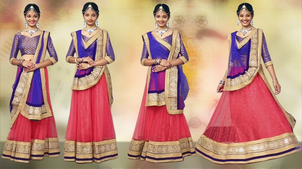 How to ghagra wear choli dupatta