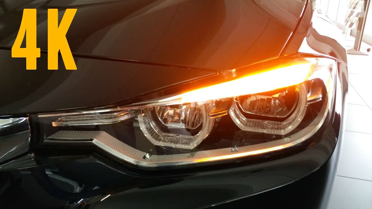 NEW 2016 BMW 3 Series LED Headlights 4K