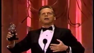 Robert Morse wins 1990 Tony Award for Best Actor in a Play