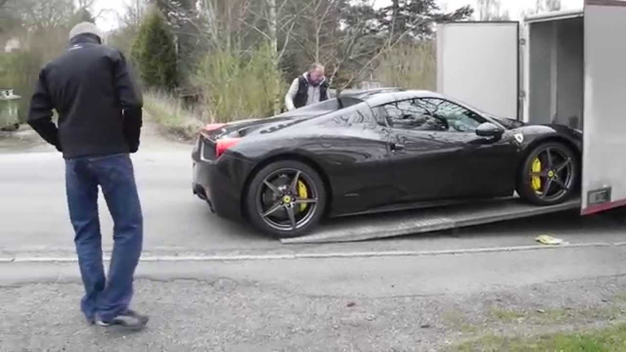 New Ferrari 358 Spider Being Delivered Youtube