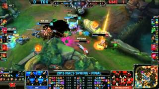TDK (Seraph Gnar) VS NME (Trashy Zac) Game 2 Highlights - 2015 NA CS Spring Final