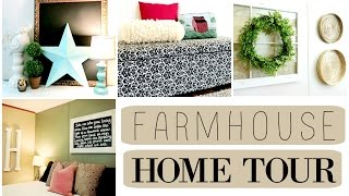 SHABBY CHIC FARMHOUSE HOME TOUR | REDECORATING ON A BUDGET