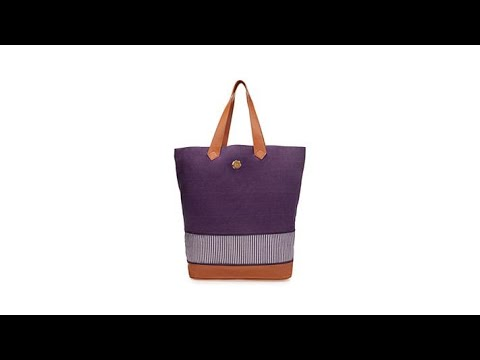 83d8536c02a JOY Smart Chic Expandable Canvas Tote w RFID Security - YouTube