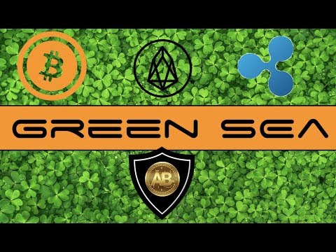 Cryptocurrency Sea of Green - XRP, EOS, Ethereum, Bitcoin