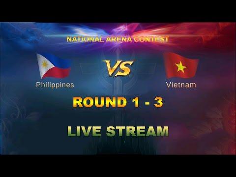 Mobile Legends - National Arena Contest Round 1 - 3 | Philippines vs Vietnam Live Stream