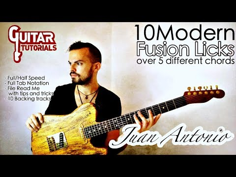 Juan Antonio - 10 Modern Fusion Licks