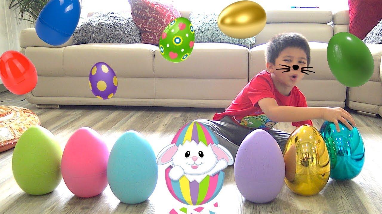 Huge Easter Egg Hunt Surprise Toys For Kids Tbtfuntv Youtube