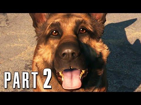 Fallout 4 Walkthrough Gameplay Part 2 - Dogmeat PS4