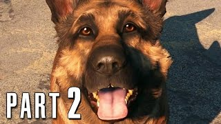 Fallout 4 Walkthrough Gameplay Part 2 - Dogmeat PS4