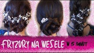 Fryzury na wesele w 5 minut  | Co Ty Pleciesz | Wedding hairstyles