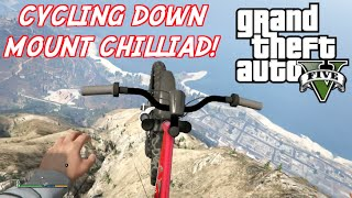 Grand Theft Auto V | First Person View Cycling Down Mount Chilliad! (Xbox One Gameplay)