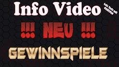 Info Video wieder zurück+ab Sofort GEWINNSPIELE