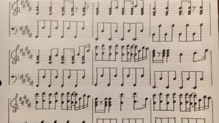 伴奏を耳コピして楽譜に起こしました。 素人の手書き楽譜なので書き間違...