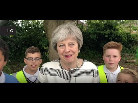 Prime Minister Theresa May takes part in the Great Plastic Pick Up