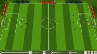 Демонстрация матча - онлайн футбольный менеджер Легион