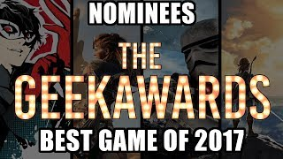 Best Game of 2017 Nominees | The Geekawards 2017