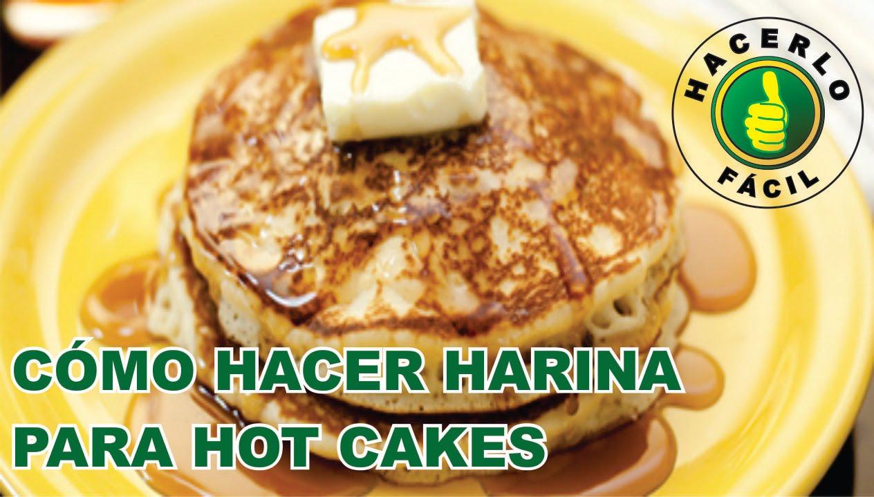 como hacer harina de pancakes