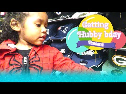 Getting Hubby's birthday present  Interracial family  Biracial family