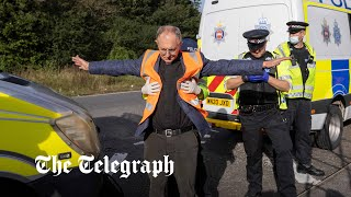 video: M25 protests: Eco-activists block junction on motorway for third time in a week