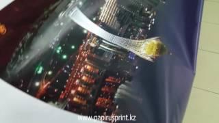 видео печать баннера