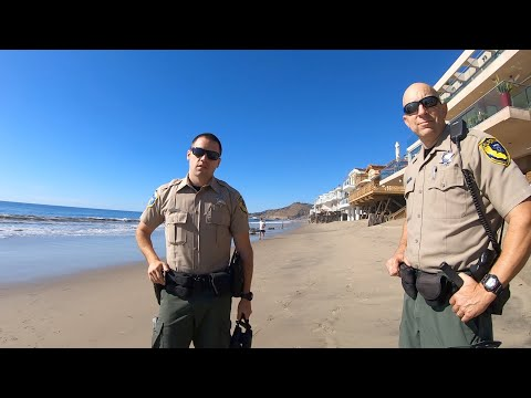 Surf Fishing Malibu Beach With A Visit From California Fish And Game Wardens - Late Fall