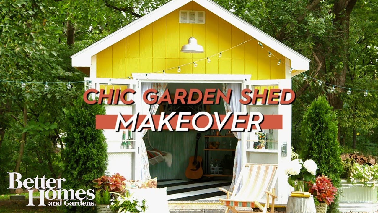 Before And After Chic Shed Makeover