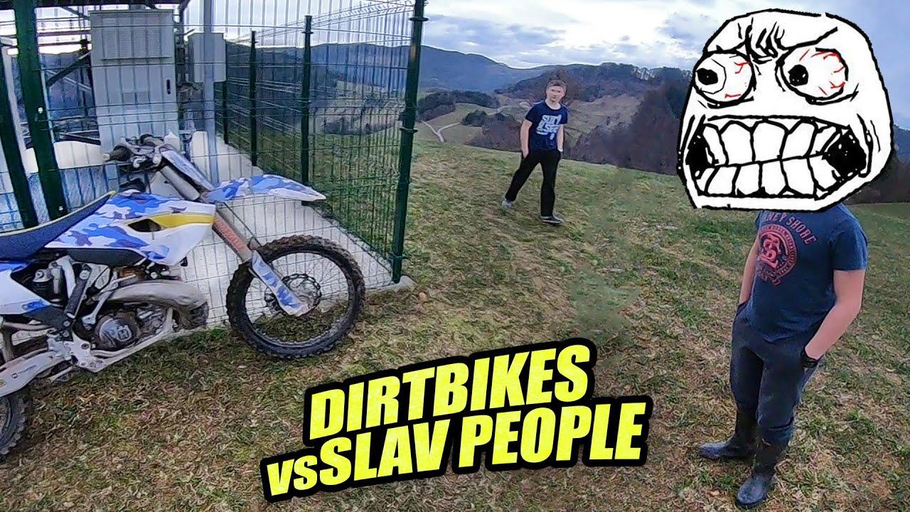Dirt Biker VS People - Wheelie Crash & Private Property 2021