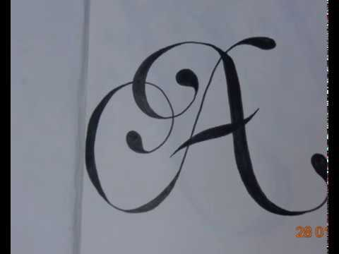 calligraphy fonts a to z