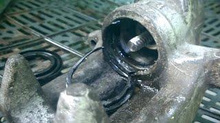 Переборка заднього супорта Audi, VW, Skoda | Ремонт заклинившего гальмівного супорта LUCAS