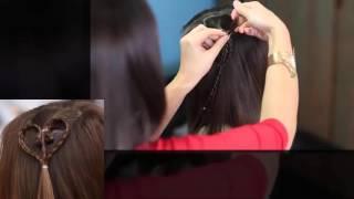 Cách thắt bím tóc hình trái tim đẹp,đơn giản