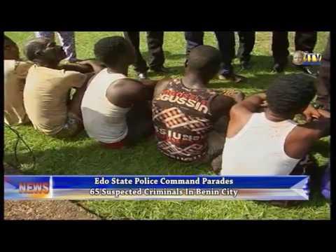 Police parades 65 suspected criminals in Benin