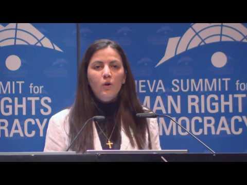 Rosa Maria at Geneva Summit