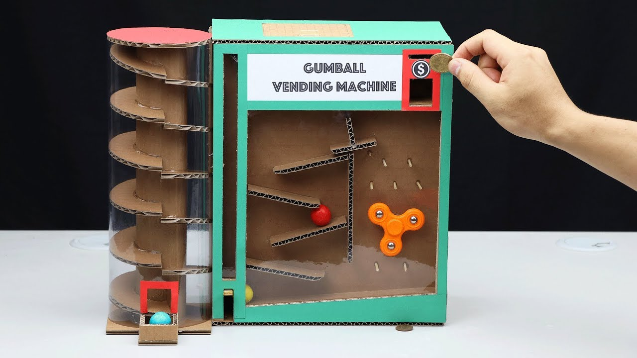 How to make a wooden coin operated gumball machine
